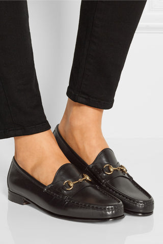 "Classic Iconic Horsebit Black Leather Loafers<a href=""http://shopstyle.it/l/gzbc"" target=""_blank"">"