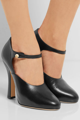 "Vintage Inspired Leather Mary Jane Pumps<a href=""http://shopstyle.it/l/eywV"" target=""_blank"">"