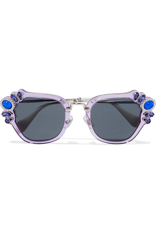 "Crystal-embellished cat-eye acetate sunglasses<a href=""http://shopstyle.it/l/esJa"" target=""_blank"">"