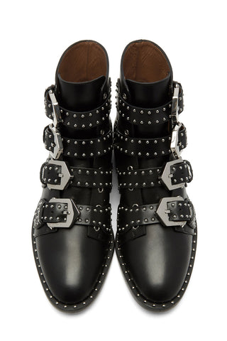 Givenchy - Black leather studded ankle boots