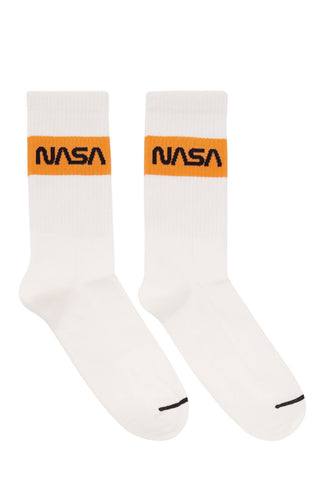 Heron Preston - White cotton rib NASA socks