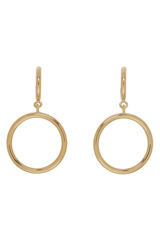 Isabel Marant - gold hoops double circle earrings