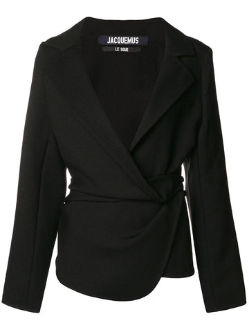 Jacquemus - Black Double-breasted Blazer Jacket