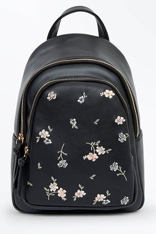 New-Look-Floral-Embroidered-Black-Backpack