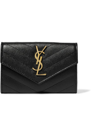 "Quilted Black Textured Leather Wallet<a href=""http://shopstyle.it/l/OUSF"" target=""_blank"">"