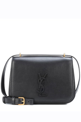 Saint Laurent - Black leather 'Spontini' cross-body shoulder bag