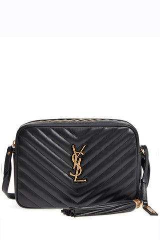Saint Laurent - Black quilted leather cross-body shoulder bag