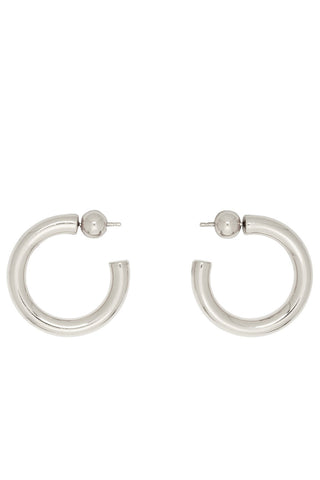 Sophie Buhai - Silver tube hoop earrings