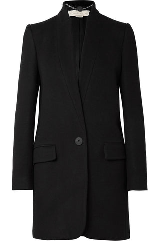 Stella McCartney - Black Bryce wool-blend coat - product image - featured on ownmuse.com