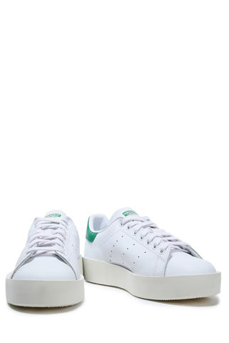Adidas Originals - White and Green Stan Smith Sneakers