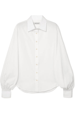 Anna Hoang - White cotton puffed-sleeve 'Castiglia' shirt