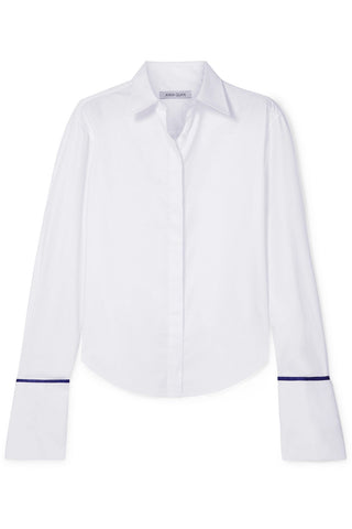 Anna Quan - Large cuffs 'Anne' cotton twill tailored shirt