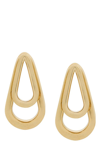 Annelise Michelson - Gold tear-drop hoops double ellipse earrings