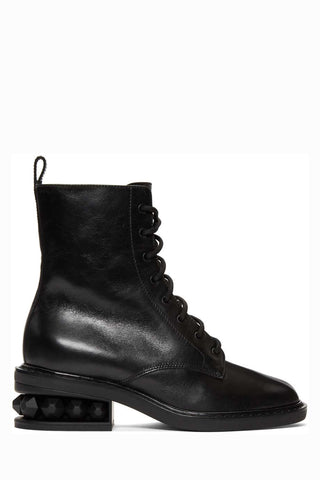 Nicholas Kirkwood - Black leather 'Suzi' combat ankle boots