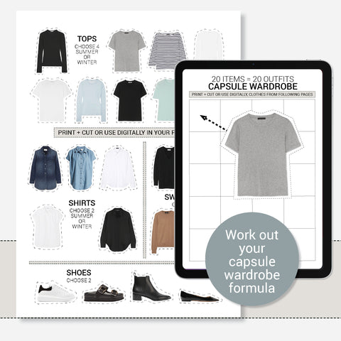 Capsule Wardrobe Starter Kit - Outfit Planner and Closet Organiser