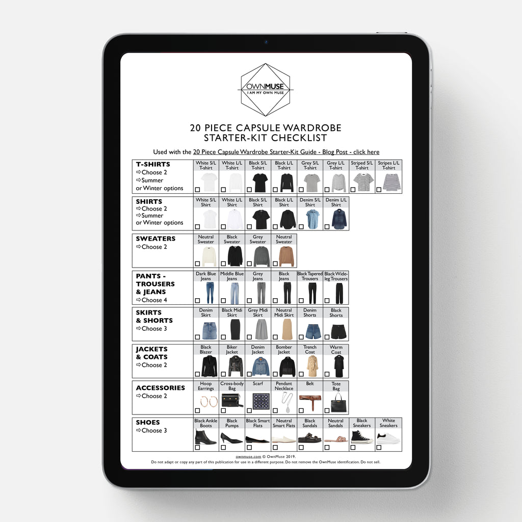Capsule Wardrobe Starter-Kit Checklist Printable