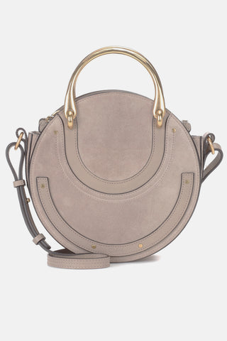 "Pixie Grey Leather & Suede Shoulder Bag<a href=""http://shopstyle.it/l/gCrX"" target=""_blank"">"