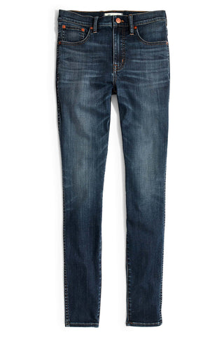Madewell - High Rise Waisted Blue Denim Skinny Jeans