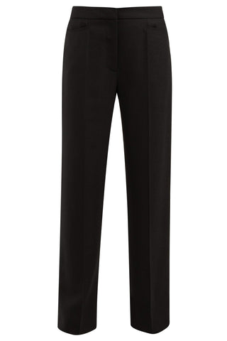Jacquemus - Black high-rise slim-leg wool trousers