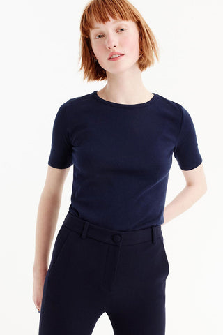J.Crew perfect fit t-shirt navy top front view