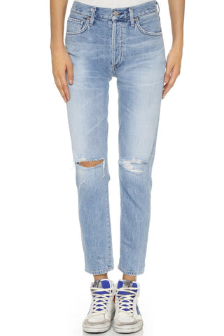 "Liya High Rise Classic Fit Aged Blue Denim Jeans<a href=""http://shopstyle.it/l/gJoF"" target=""_blank"">"