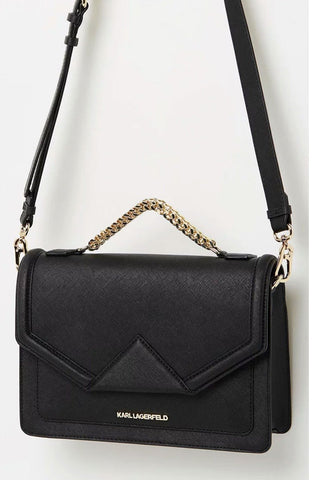 Sancia - 'Gigi' black leather shoulder bag