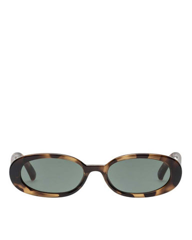 Le Specs - 'Outta love' tortoise oval sunglasses