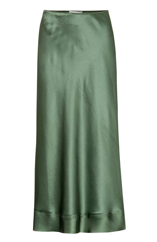 Lee Mathews - 'Stella' green silk stain slip skirt