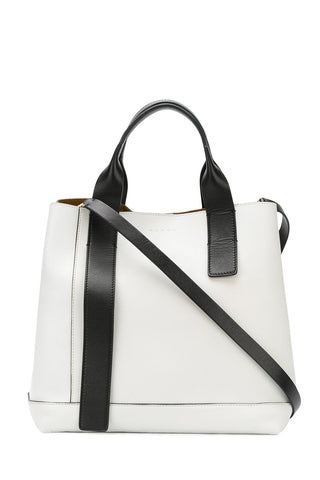 Marni - Voile Monochrome Black & White Leather Tote Bag