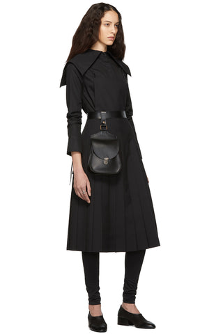 Noir Kei Ninomiya - Black Wool Pleated Apron Dress