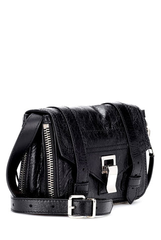 Proenza Schouler - PS1+ Mini Black leather shoulder bag crossbody bag