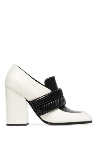 Proenza Schouler - Monochrome Black and White Leather Pumps