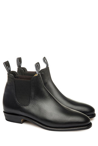 R M Williams - Yearling Adelaide black leather ankle boots