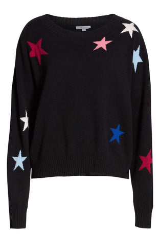 Rails - 'Presley' Black With Coloured Stars Sweater Jumper