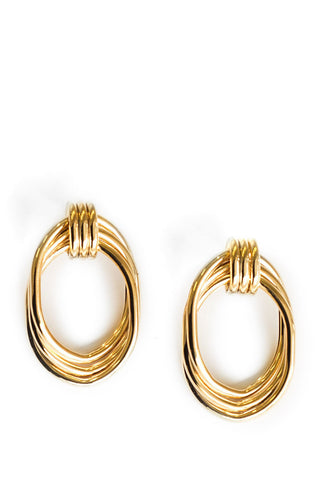 Reliquia - Over & Over - Gold twisted hoop earrings