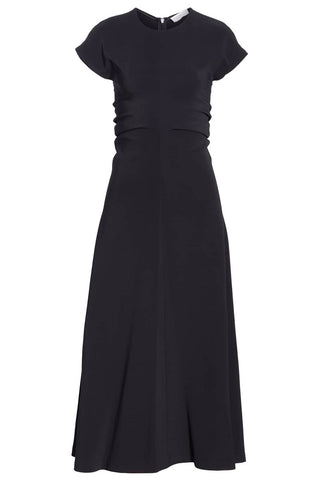 "Black Ruched Stretch Cady Dress<a href=""https://shopstyle.it/l/VAVm"" target=""_blank"">"