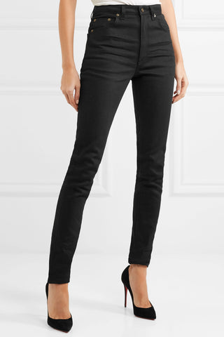 Saint Laurent - High Waisted Black Skinny Jeans - Styled