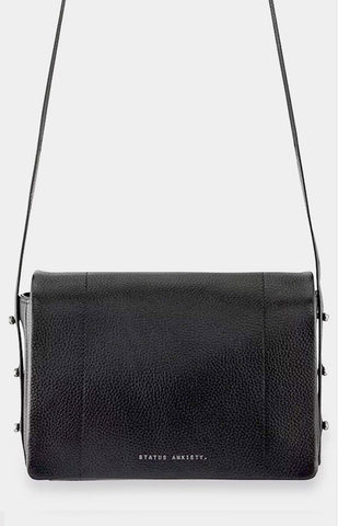 Status Anxiety - 'Seccumb' black leather shoulder bag