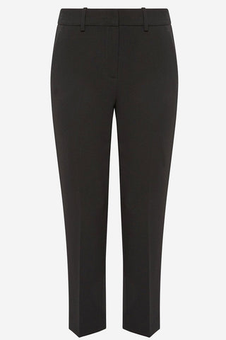 Theory - Black tapered cigarette crepe treeca slim-fit trousers