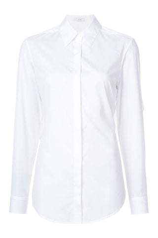 TOME - Classic white shirt with tie back