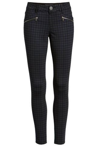 Wit & Wisdom - Ab-solution checked black skinny ponte trousers pants