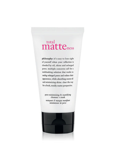 PHILOSOPHY - Total Matteness Pore Minimizing & Mattifying Cleanser + Mask