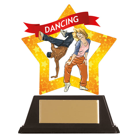 Personalised Engraved Mini-Star Street Dancing Trophy Free Engraving