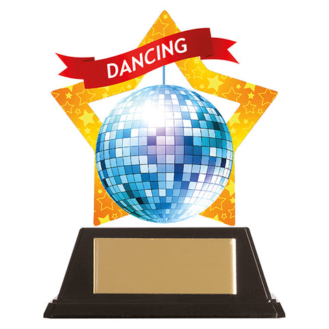 Personalised Engraved Mini-Star Disco Dancing Trophy Free Engraving