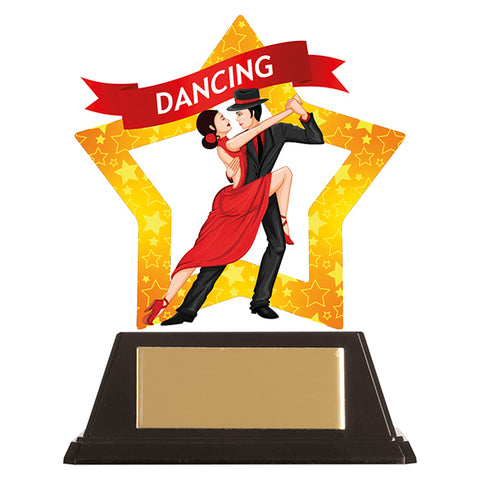 Personalised Engraved Mini-Star Ballroom Dancing Trophy Free Engraving