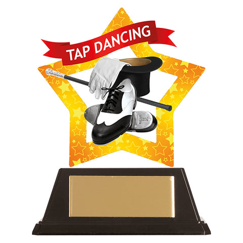 Personalised Engraved Mini-Star Tap Dancing Trophy Free Engraving