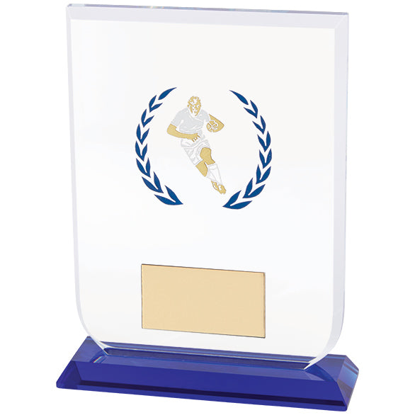 Personalised Engraved Gladiator Rugby Glass Award Trophy Free Engraving