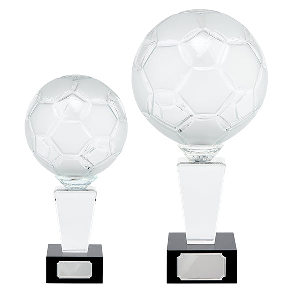 Personalised Engraved Ultimate Football Crystal Award Trophy 2 Sizes Available Free Engraving