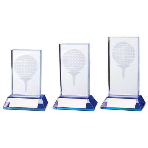 Personalised Engraved Davenport Crystal Golf Award Trophy 3 Sizes Available Free Engraving