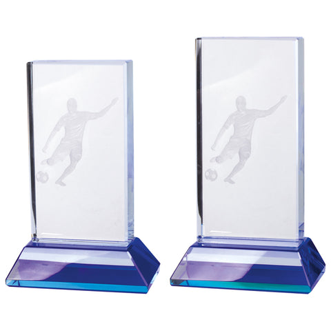 Personalised Engraved Davenport Football Crystal Award Trophy 2 Sizes Available Free Engraving